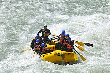 Elaho River rafting