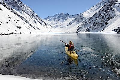 Kayaking Laguna del Inca